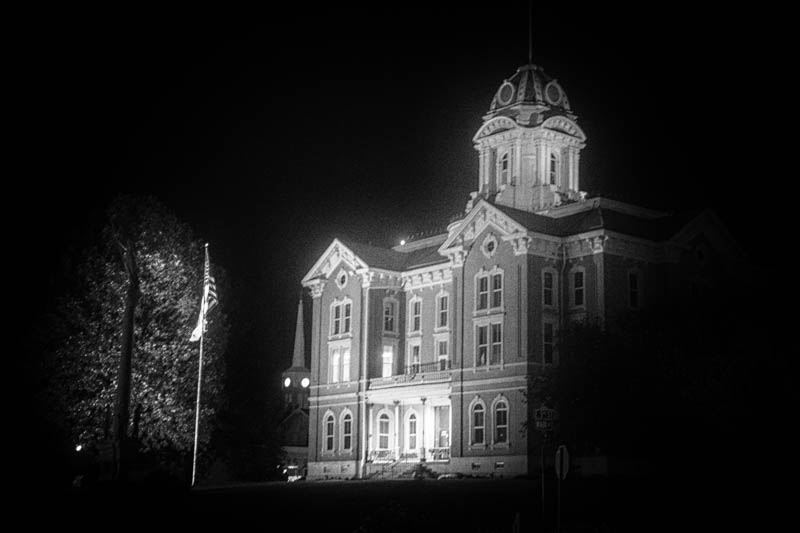 The Posey County Courthouse in Mt. Vernon, Indiana, approximate location of the last sighting of the weeping woman, also known as Black Annie