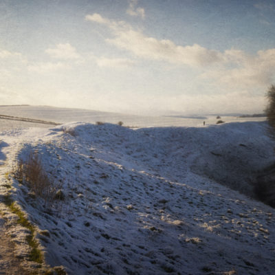 Capturing a dream in the snow at Avebury