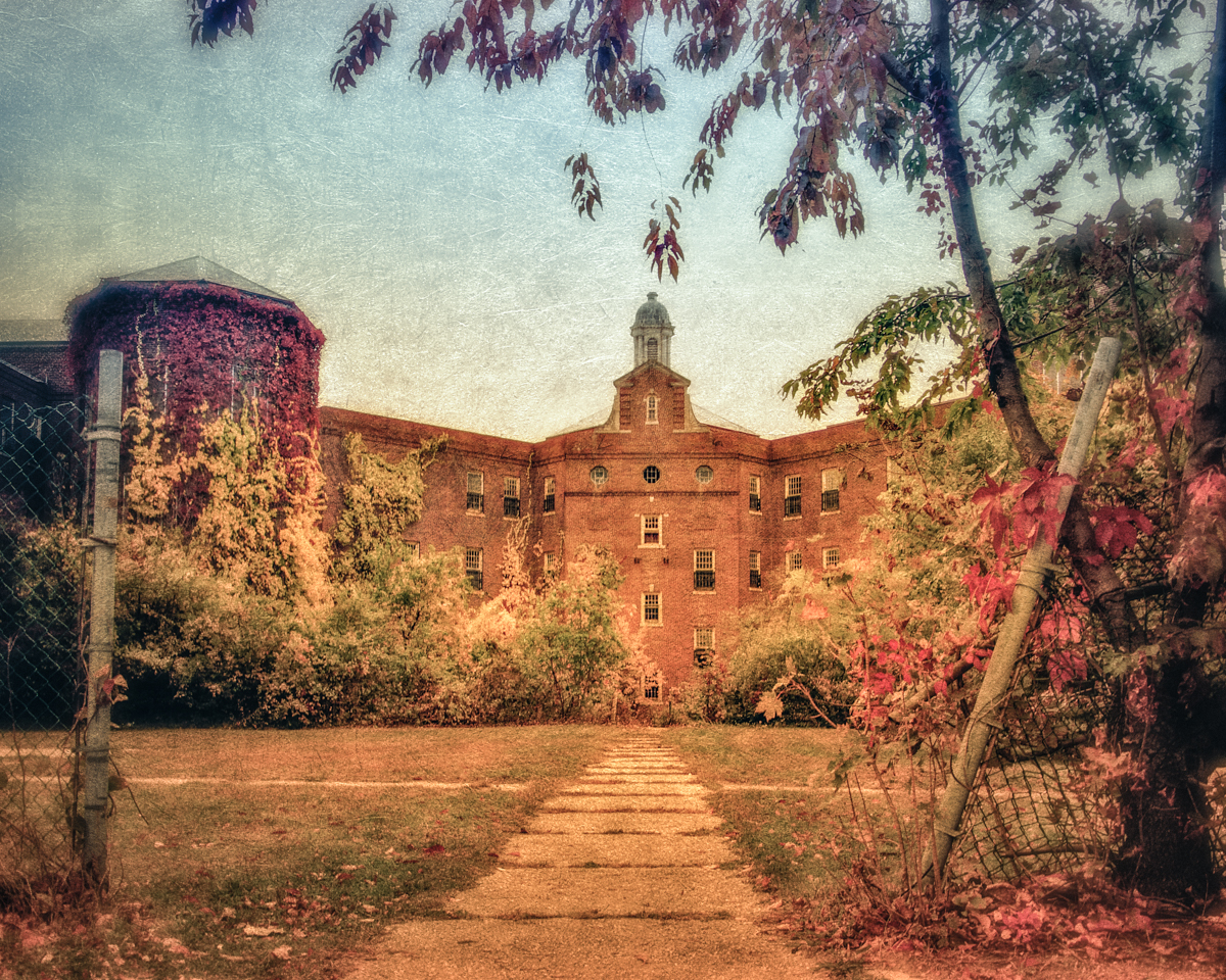 Entrance to the Quad at Kings Park Psychiatric Center