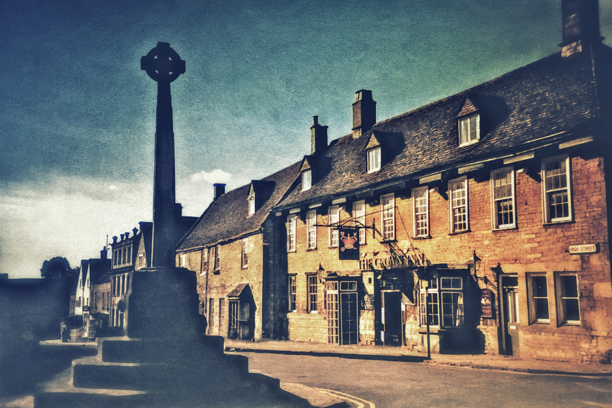 The Crown Inn in the Cotswold Village of Minchinhampton.