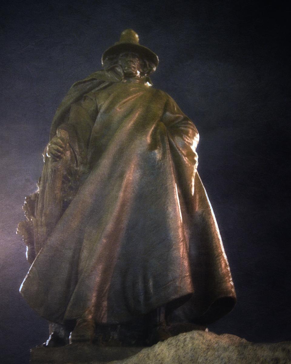 The Puritan, Statue of Roger Conant, Salem, Massachusetts.