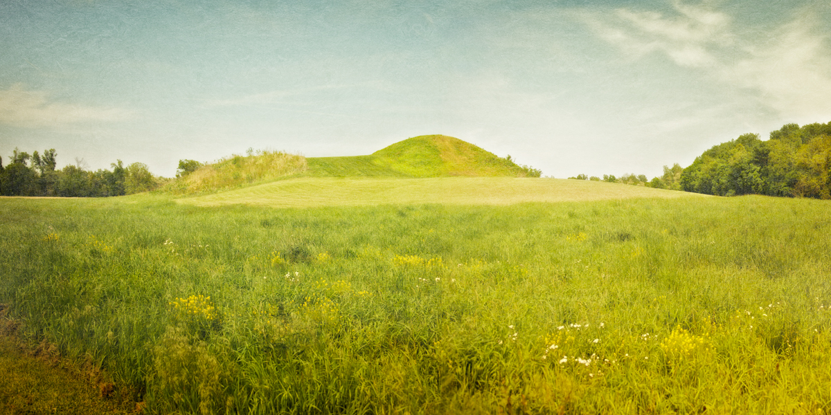 Central Mound (Mound A). Angel Mounds State Historic Site, Evansville, Vanderburgh County, Indiana