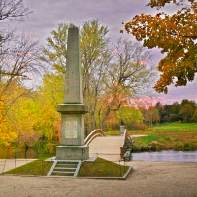 Revolutionary War Battlefields: Old North Bridge in Concord, Massachusetts
