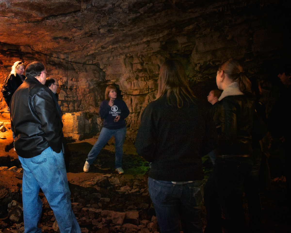 Guide at the Bell Witch Cave and Cabin, Adams, Robertson, Tennessee