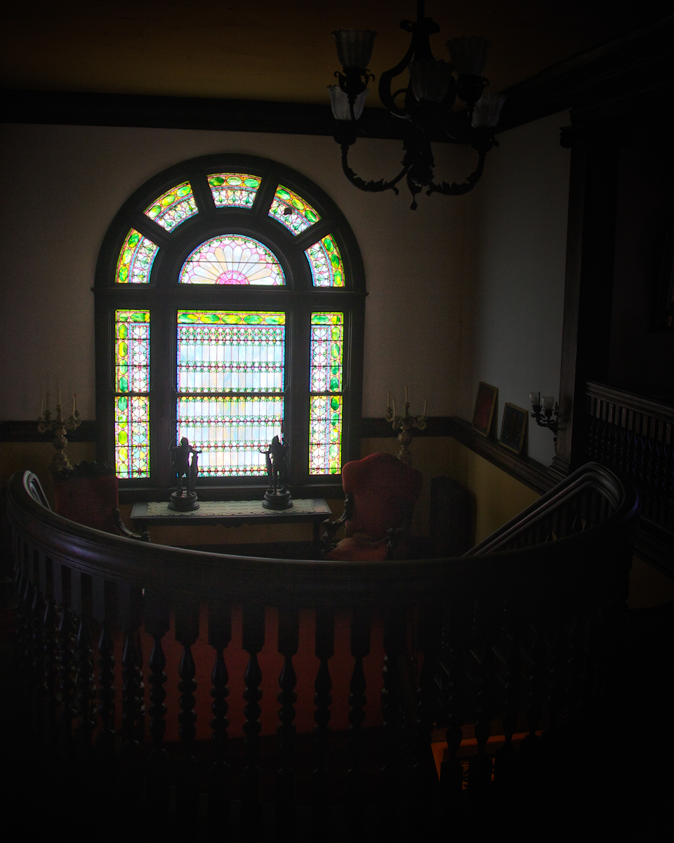 L.C. Tiffany Stained Glass WIndow, Rockcliffe Mansion