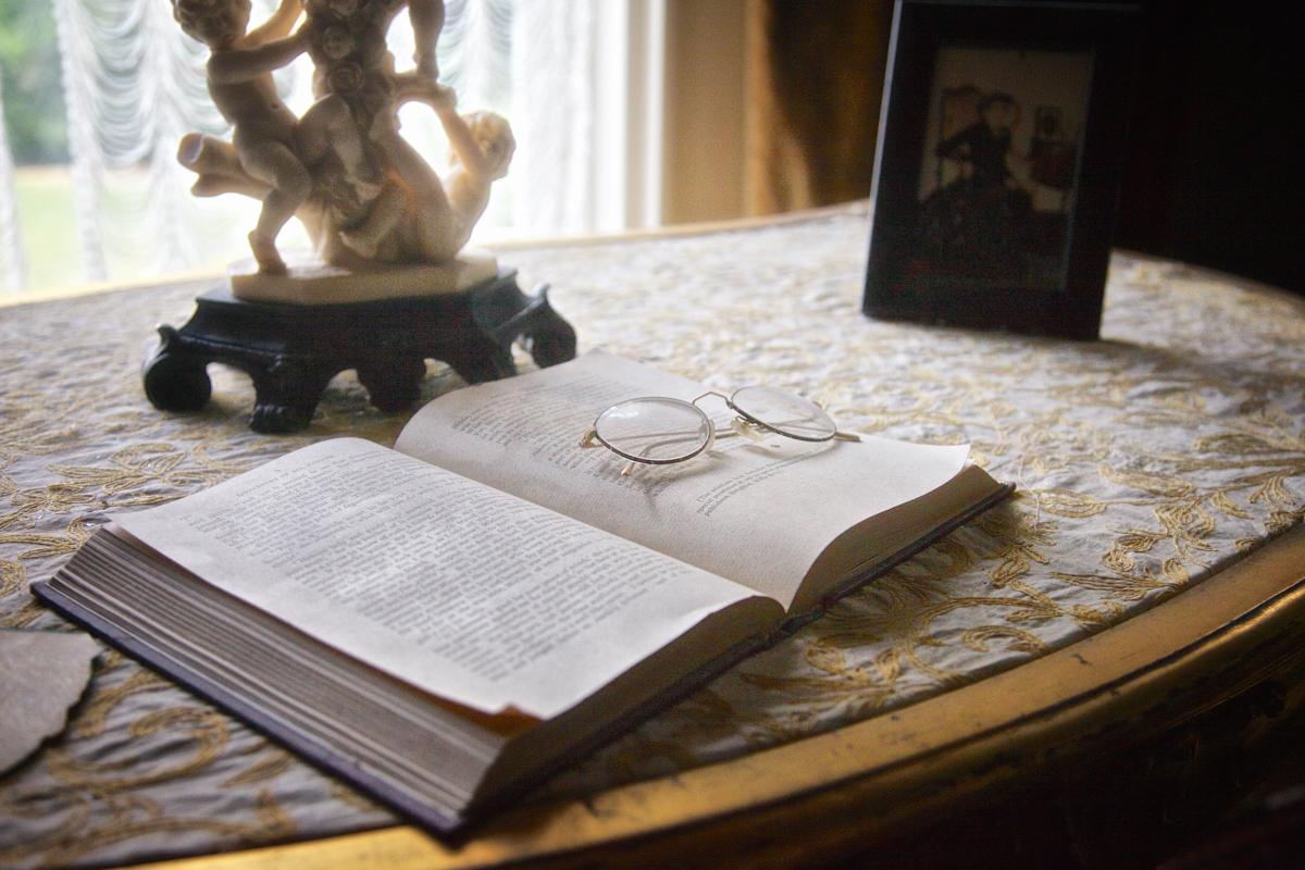 Mr. Cruikshank's reading glasses