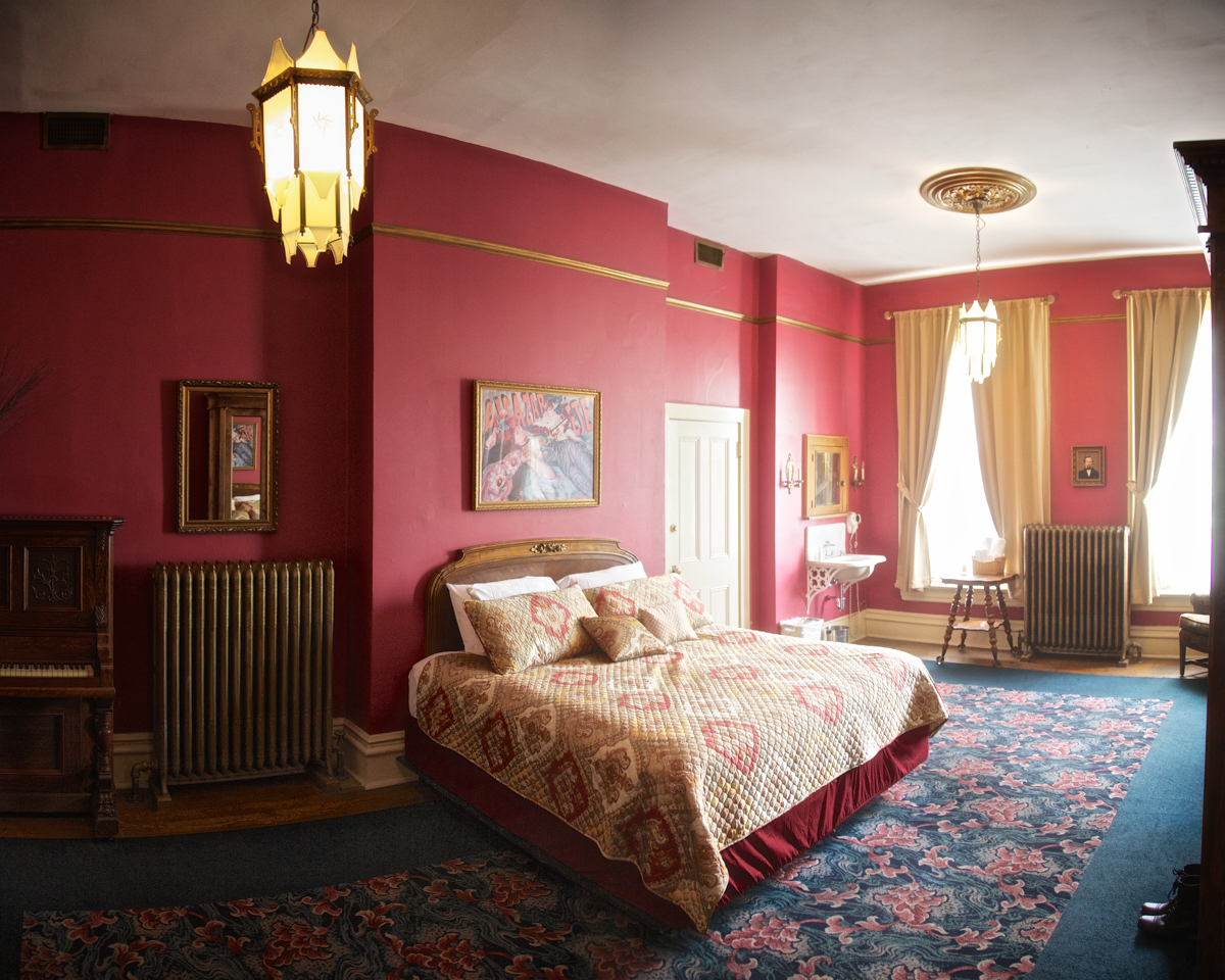 The bedroom of Charles Lemp, the last of the Lemp's to live in the house. Charles shot himself in the head on his bed, after first killing his beloved dog in the basement.