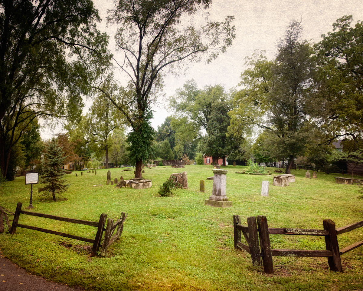 Behind the Talbot Tavern is the Pioneer Cemetery.
