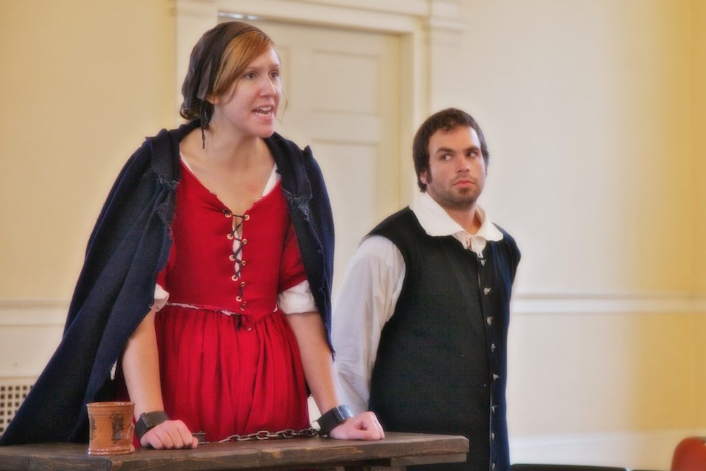 For a true to life Salem experience, join in the Examination of Bridgit Bishop in an interactive performance of Cry Innocent at Salem Town Hall, weekends in September and daily during the month of October.