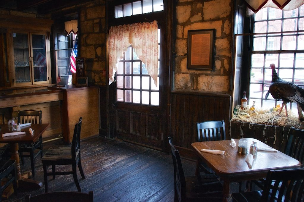 Colonial Era Taverns: Front Door, Restaurant, Old Talbott Tavern, c. 1779, Bardstown, Nelson County, Kentucky