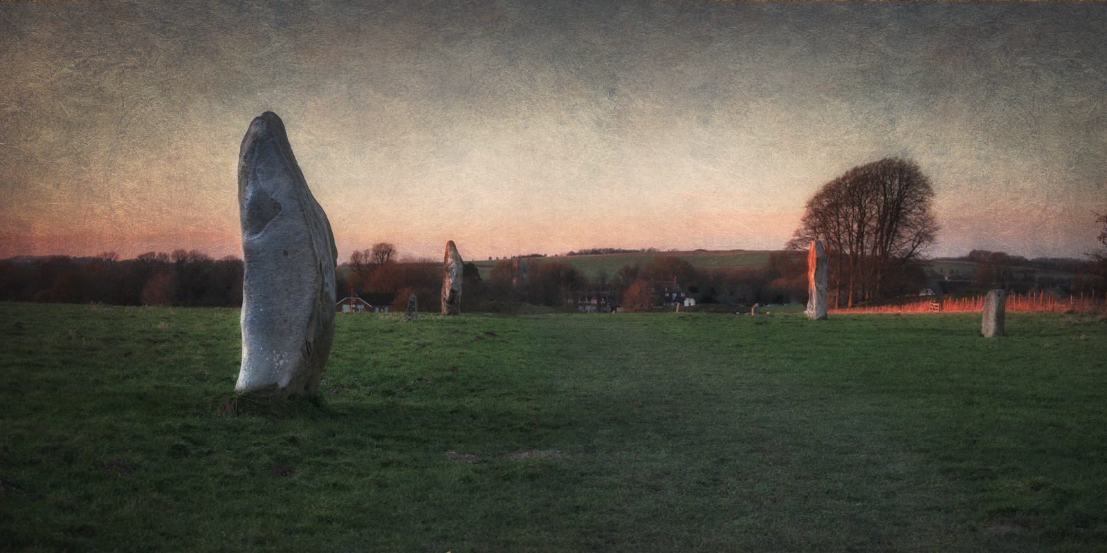 Stones of West Kennet Avenue at Avebury
