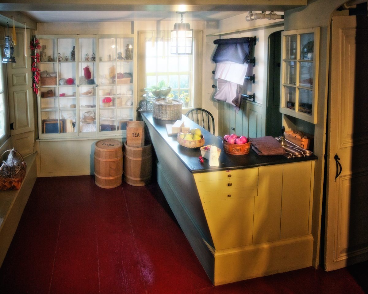 Interior of the Cent Shop of Hepzibah Pincheon at the House of the Seven Gables