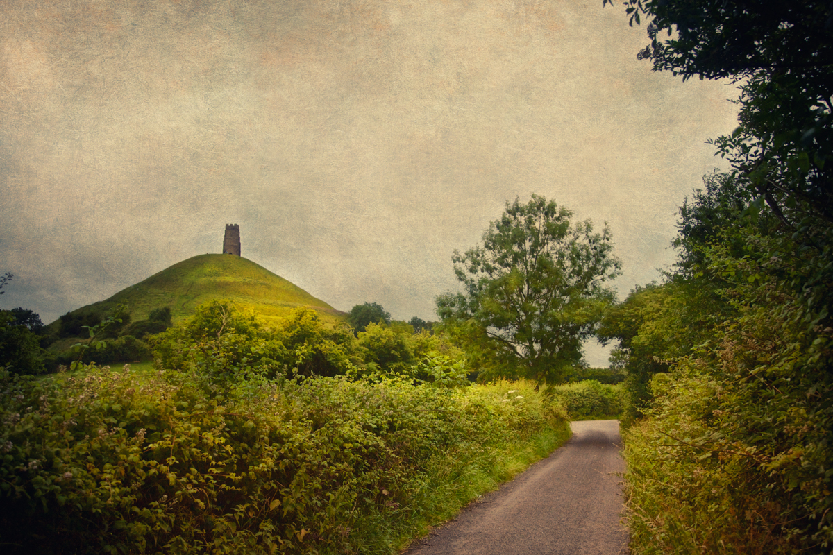 The enchanted landscape near Glastonbury