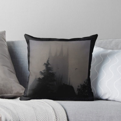 """For the budding author – The Cathedral Throw Pillow – """"It's easier to write with cushions than on pieces of hard bench – it's much easier on a nice cushion,"""" John Lennon"""