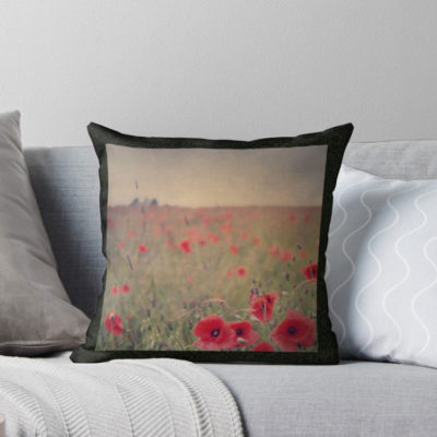 Poppy Fields throw pillow … where Dorothy would want to lay her head when she's not in Oz