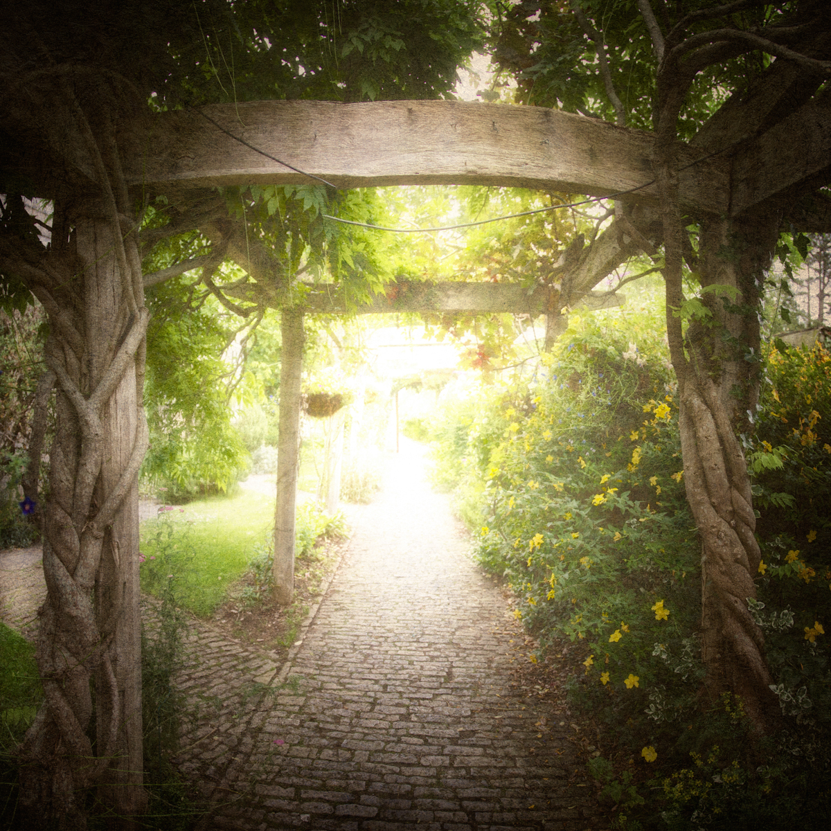 Entrance to Chalice Well Gardens in Glastonbury