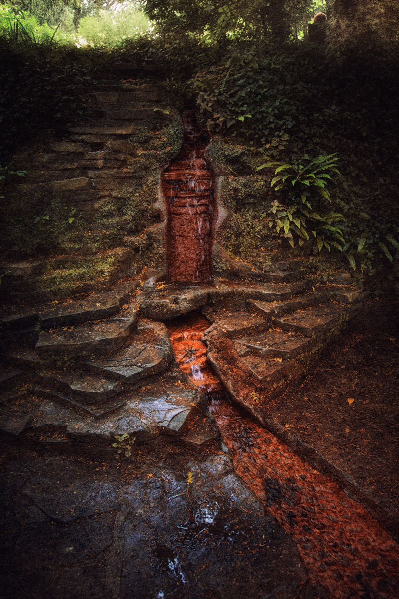 Rust Colored Waterfall of the Red Spring in Arthur's Court
