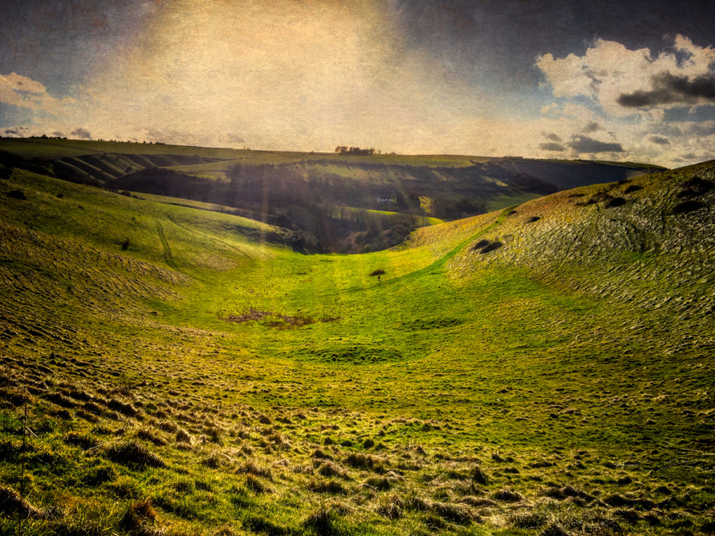 Folk horror from Wiltshire: The Blood Stone at Luccombe Spring, starving out the Vikings at Bratton Camp, the White Horse of Westbury and the nature of folklore