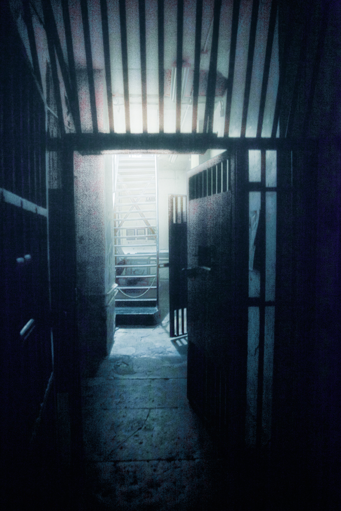 Into the cell block at the Jailer's Inn, Bardstown Kentucky