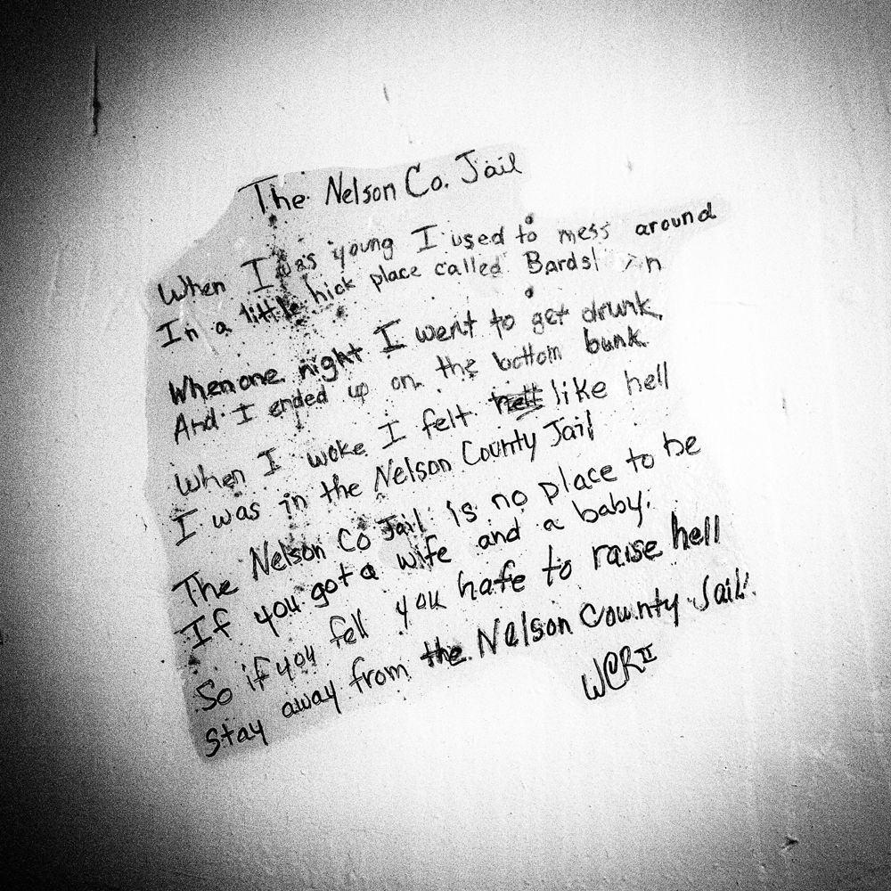 Inmate graffiti in the Jailer's Inn in Bardstown, Kentucky