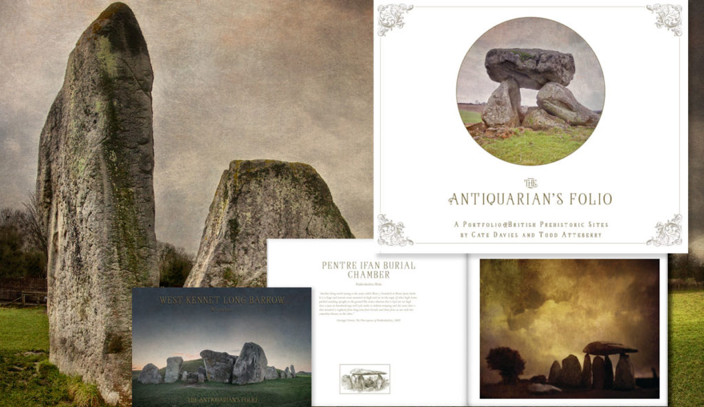 The Antiquarian's Folio, A Portfolio of Prehistoric British Sites with art from Cate Davies and Todd Atteberry