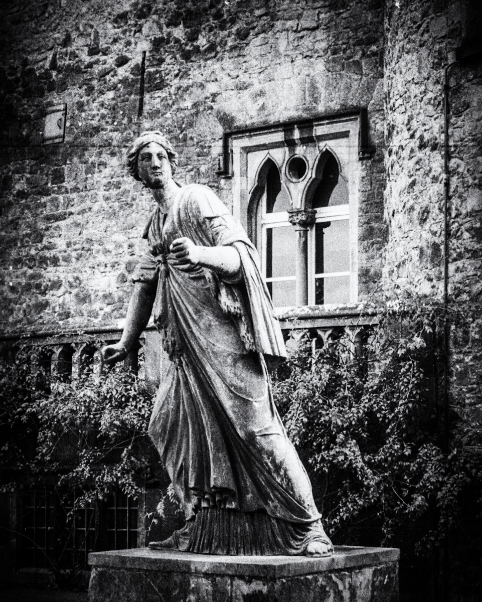Statue on the grounds of Kilkenny Castle.
