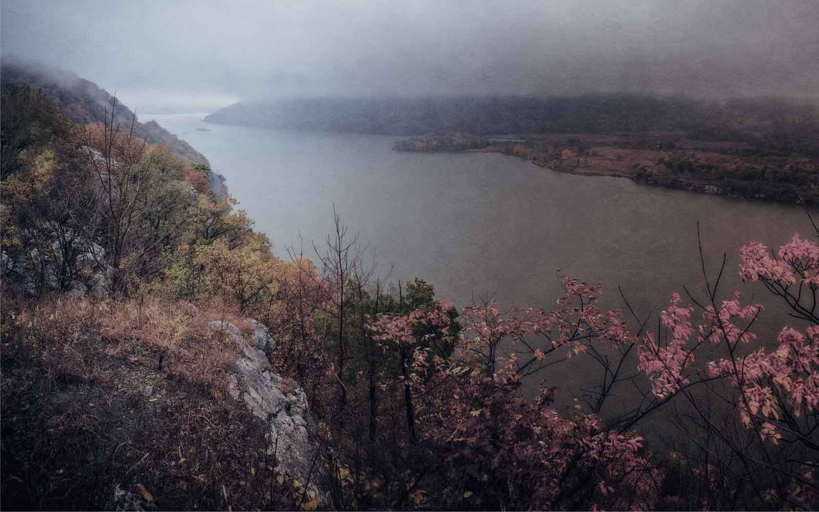 View of the Hudson River in the Fog from Anthony's Nose, folk horror in the Hudson Valley