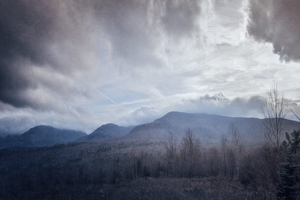 Mist descending on the Catskills from Haunted Travels in the Hudson River Valley of Washington Irving