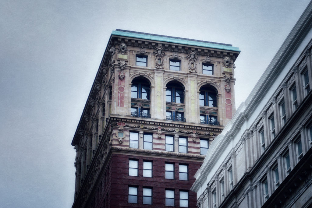 NYC architecture from Haunted Travels in the Hudson River Valley of Washington Irving