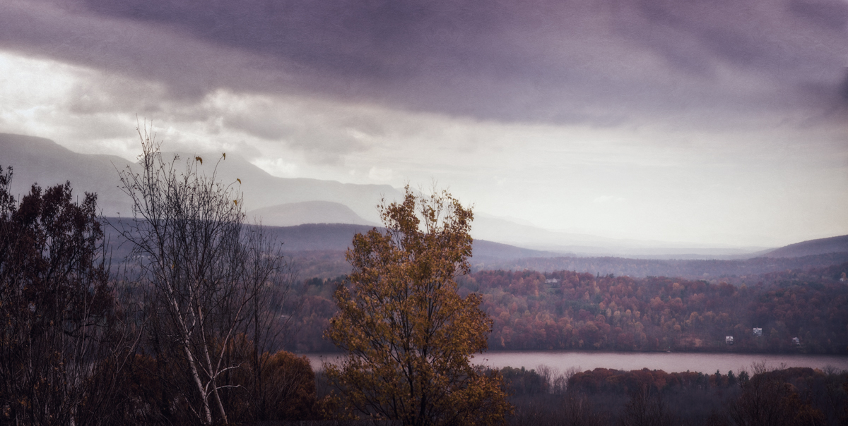 View of the Catskills from Olana, the cradle of American folk horror
