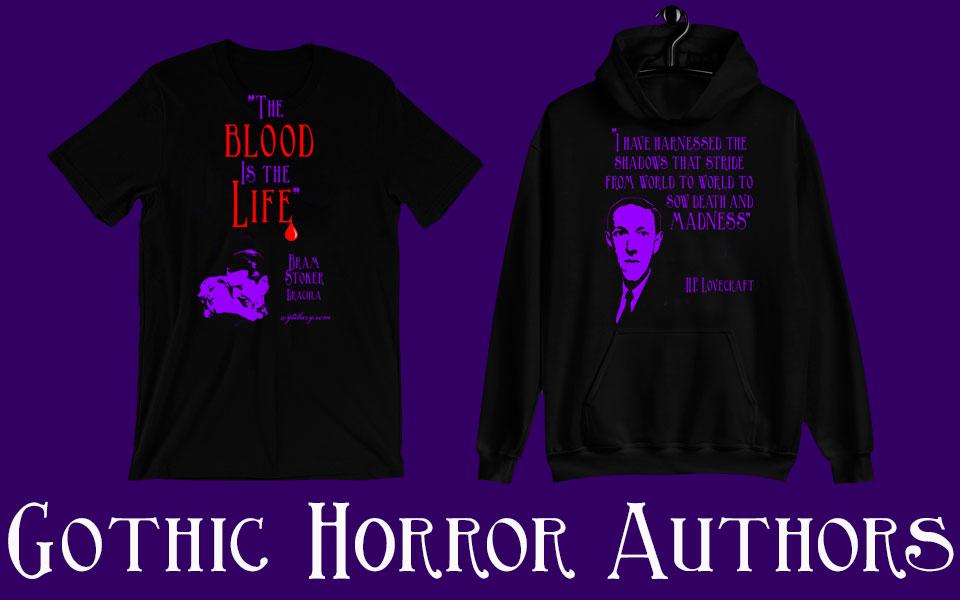 Gothic Horror Author Shirts