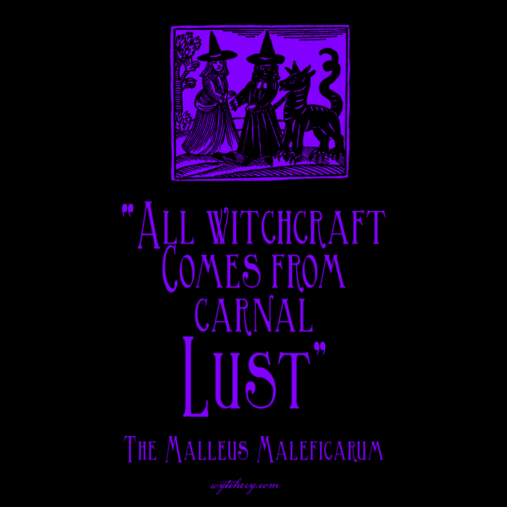 """All witchcraft Comes from carnal lust,"" The Malleus Maleficarum"