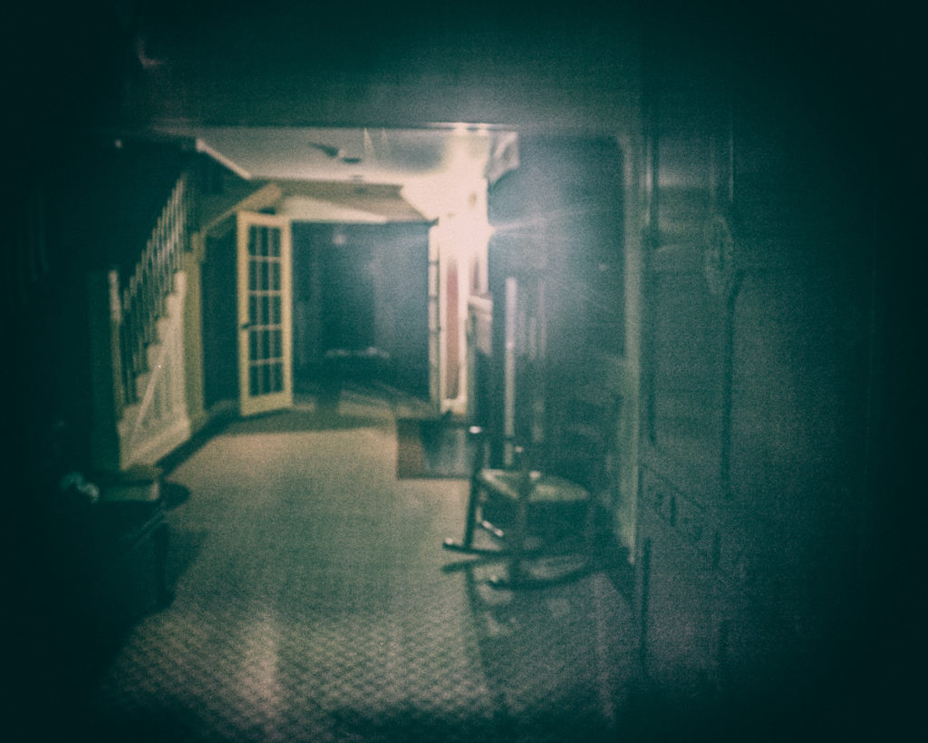 Inside the Barnstable House, also known as the House of Eleven Ghosts