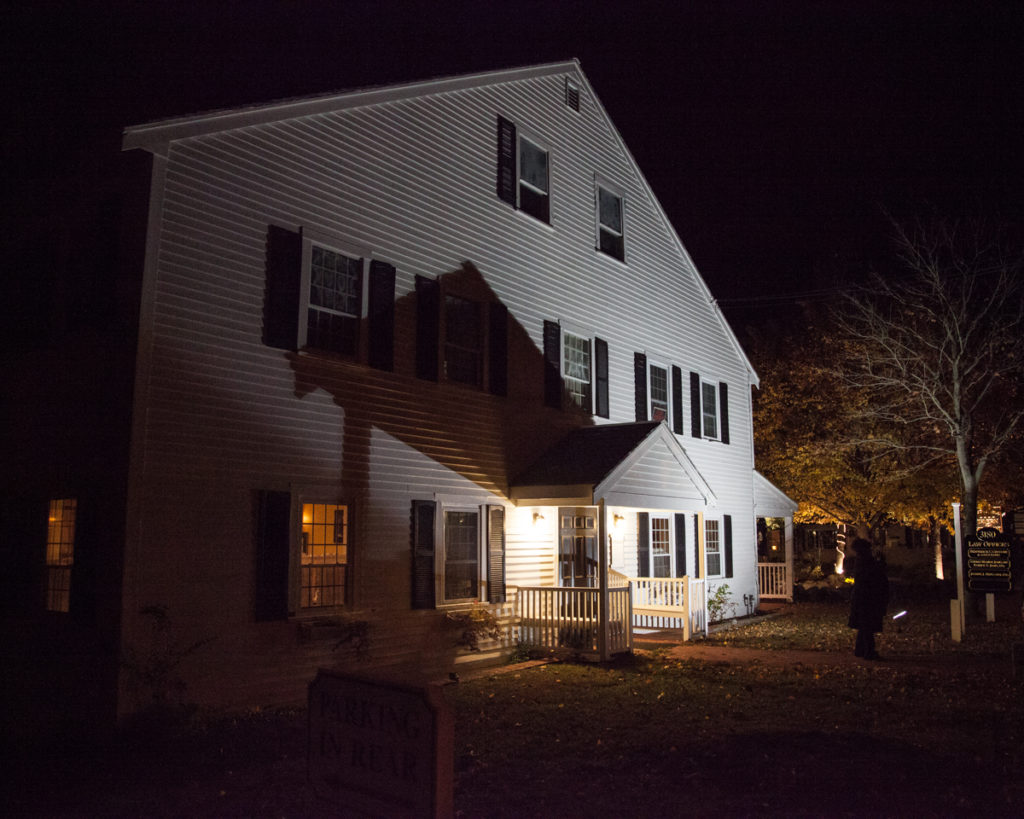 The Barnstable Restaurant and Tavern, where Lucy's ghost now haunts after leaving the house of eleven ghosts, also known as The Barnstable House