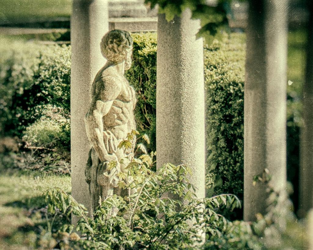 Garden statue at Winfield Hall